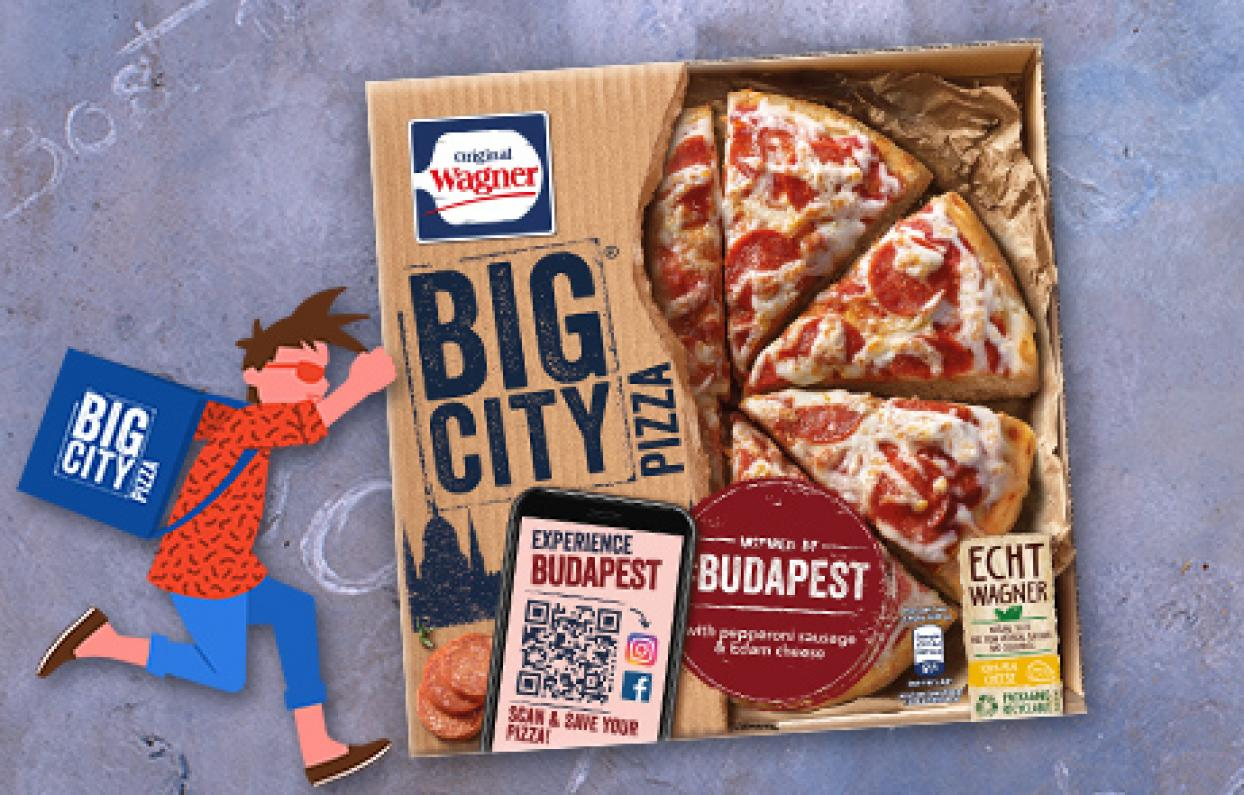 Original Wagner Big City Pizza Augmented Reality Filter & Games Budapest