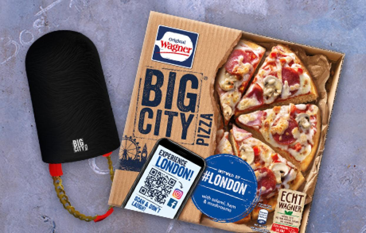 Original Wagner Big City Pizza Augmented Reality Filter & Games London