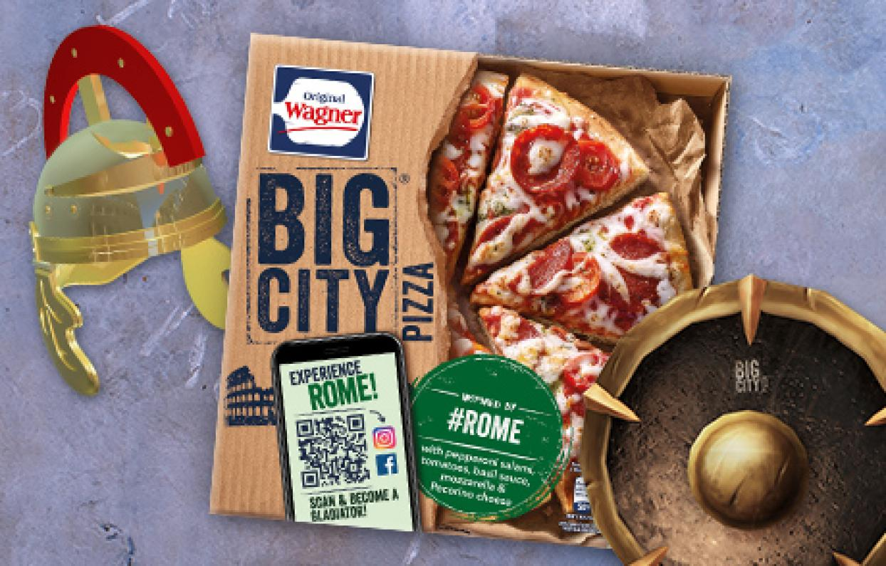 Original Wagner Big City Pizza Augmented Reality Filter & Games Rome